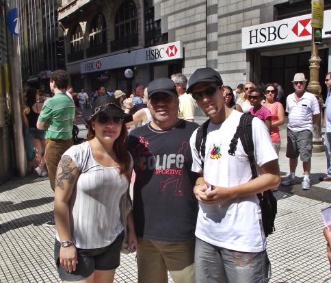 Evelyn, Pai e eu no 'calor' de Buenos Aires
